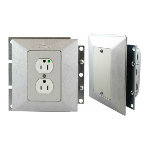 Electrical Receptacle and Blank Plate Outlet Accessory