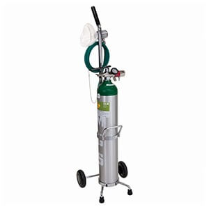 Accutron 38013,Deluxe Portable Oxygen System Demand Valve with O2 Q/C Fitting, Adult Facemask, Adjustable Liter Flow Regulator, In-line O2 Adapter, Cylinder W