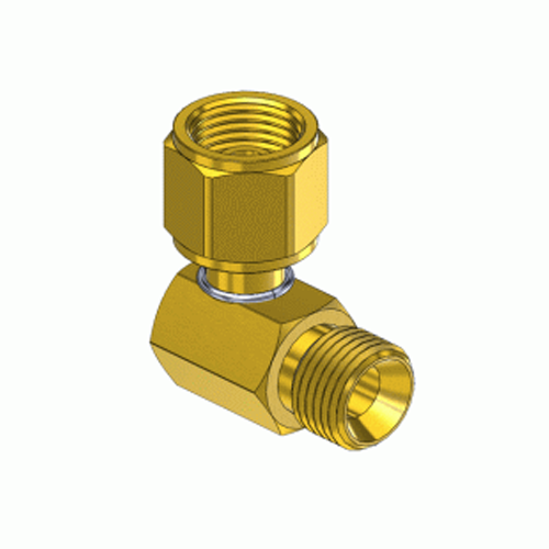 Superior A-322, 90 External Hose Coupler to Internal Swivel Nut