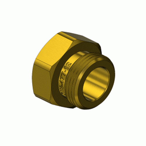 Superior DN-477-12, DIN-12 Nitrous Oxide Hex Nut