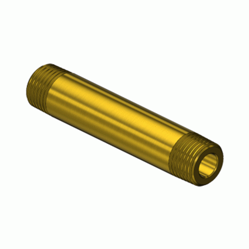 Superior GMF-3213, Brass Manifold Pipe Nipple w/ Threaded End