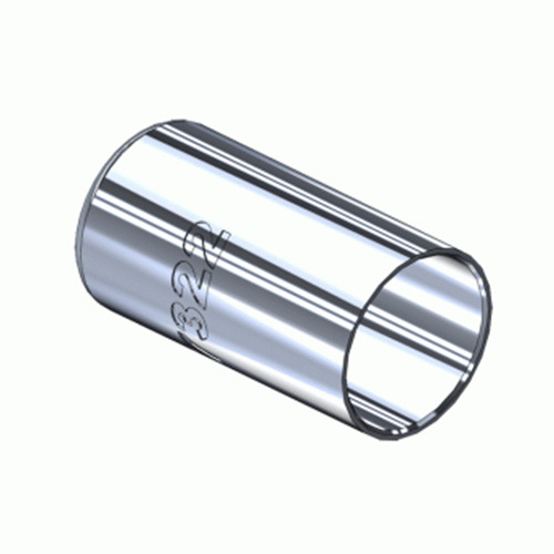 Western M-7322, Nickel Plated Hose Ferrule Big