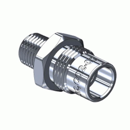 Superior MA-732, DISS-1080-A Body-Adaptor for CO2, CO2/O22 Mixture