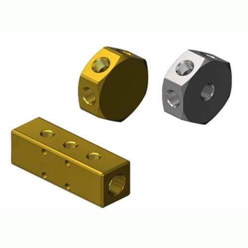 Mb brass stainless steel manifold block