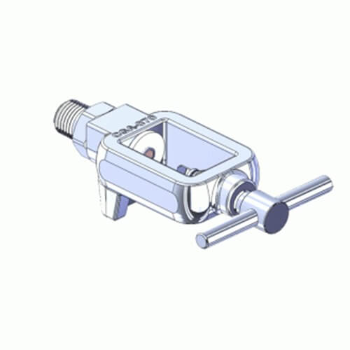 Superior MFY-870-4, Pin Indexed Yoke w/ T-Handle for CGA-870 Oxygen