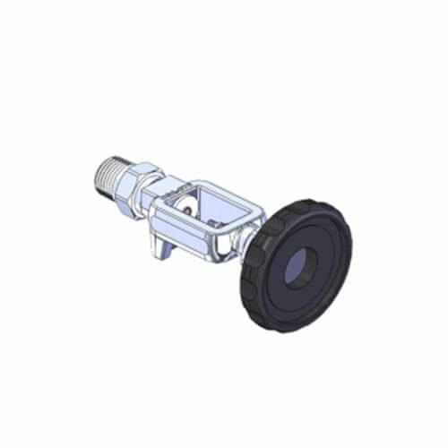 Superior MFY-870-8H, Pin Indexed Yoke w/ HT Grip for CGA-870 Oxygen