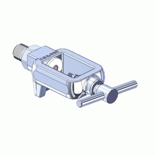 Superior MFY-960-4, Pin Indexed Yoke w/ T-Handle for CGA-960 Nitrogen