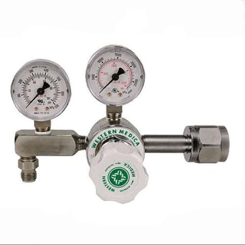 Western  Oxygen Regulator – CGA 540 Nut and Nipple – Pressure Gauge – M1-540-PG