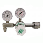 Western  Oxygen Regulator – CGA 540 Nut and Nipple – Pressure Gauge – M1-540-PG