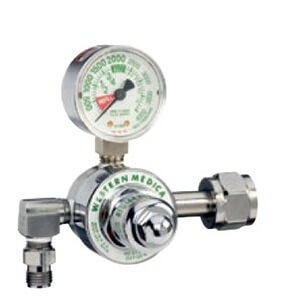Western M1-320-P, Carbon Dioxide Single Stage Preset 50 PSI Pressure Healthcare Regulator