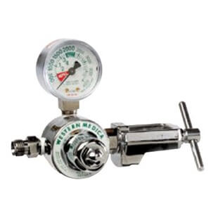 Western  M1A-940-P, Carbon Dioxide Single Stage Preset 50 psi Pressure Healthcare Regulator