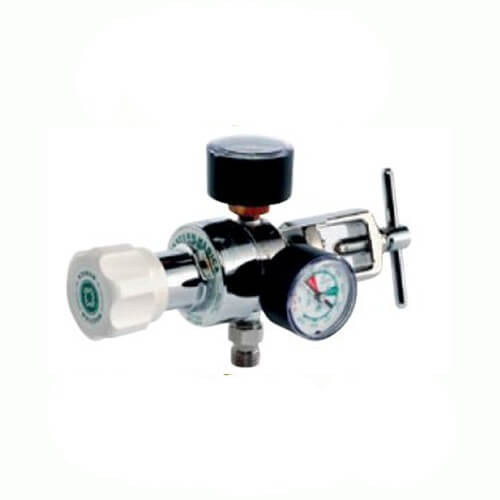 Western  Single-Stage Compact Regulator Oxygen with CGA-870 Swivel Yoke Inlet, MR-870-8FG