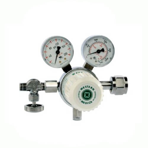 Western  Single-Stage High Purity Medical Air Regulator with CGA-346 Nut and Nipple Inlet, MSH180346
