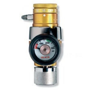 Western Compact Click-Style Regulator with handtight CGA-540 Nut and Nipple Inlet, OPA-520