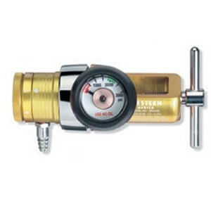 Western Compact Click-Style Regulator with CGA-870 Yoke Inlet, OPA-820, 285MA-15LY