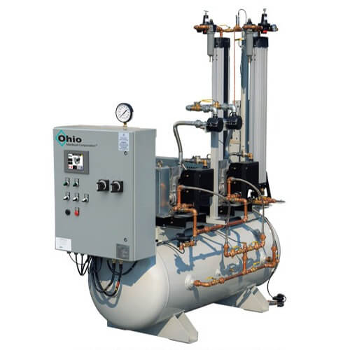 Ohio Medical 7.5hp & 10hp Oil-Less Rotary Scroll Compressor Air Systems Big