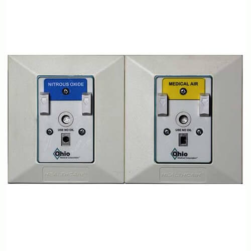 Ohio Medical Medical Gas Wall Outlets- Chemetron