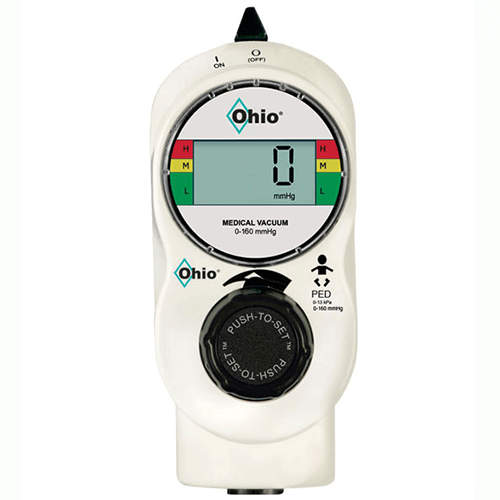 Vacuum Regulator, Ohio Medical Push-To-Set™, 2 Mode Low Continuous, Pediatric, Digital