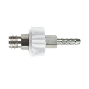 DISS Male, 1/4″ Hose Barb With Knob and Check