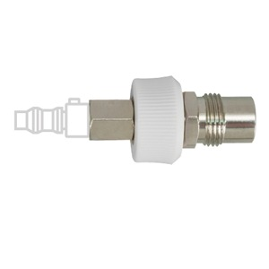 Puritan Bennett Style Male Quick Connects, DISS Male with knob and Check Valve