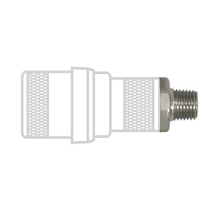 Schrader Style Female Check Units, 1/4″ NPT Male