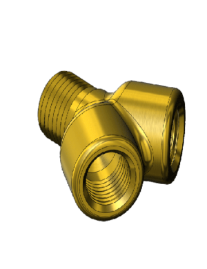 Brass Y Connectors w/ Pipe Threads