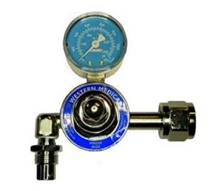 Western M1-326-P, Nitrous Oxide Single Stage Preset 50 PSI Pressure Healthcare Regulator