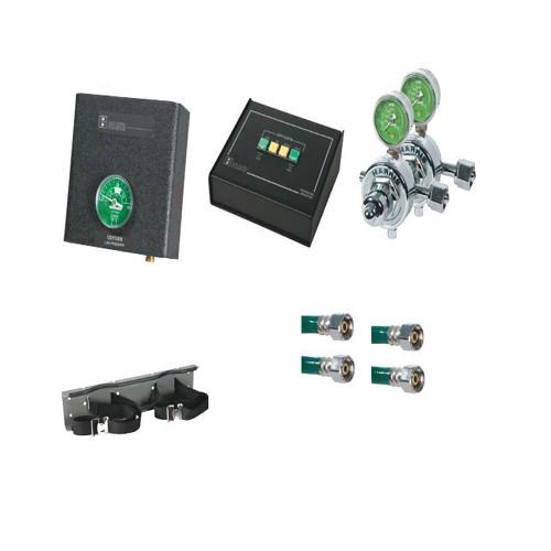 Belmed 2020-D, 2 Oxygen Cylinders Desk Alarm System Big
