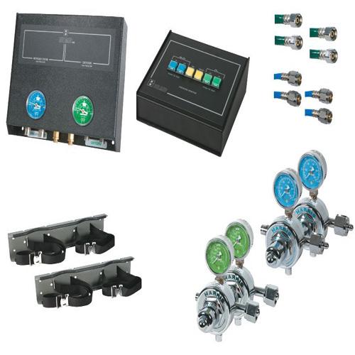Belmed 2022-D, 2 Oxygen / 2 Nitrous Oxide Cylinders Desk Alarm System