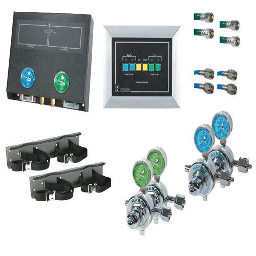 Belmed 2022-W, 2 Oxygen / 2 Nitrous Oxide Cylinders Wall Alarm System