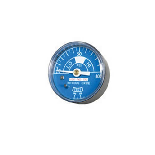Belmed 4000-6N2O, Nitrous Oxide Gauge 2 Diameter Male 1/4 NPT C.B. Connection