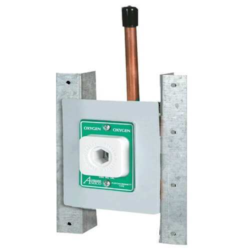 Belmed 6200-PN, Single Outlets – Concealed, Vacuum, Puritan style