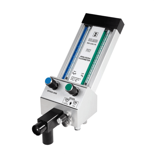 Belmed 5002-SH-S, Flowmeter System with Short Mobile Stand
