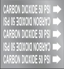 Seton Pipe Marker Carbon Dioxide 50 PSI