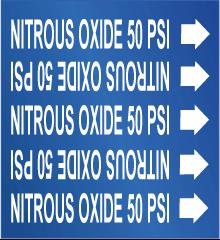 Seton Pipe Marker Nitrous Oxide 50 PSI