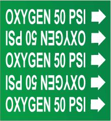 Seton Pipe Marker OXYGEN 50 PSI