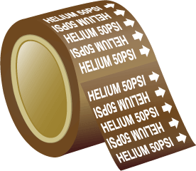 Seton Pipe Marker Helium 50 PSI
