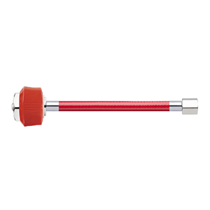 Hose Assembly; Instrument Air; Non Conductive (1/4″); Red; DISS Female, Hand-tight Nut; 1/8 NPT Female Pipe Thread