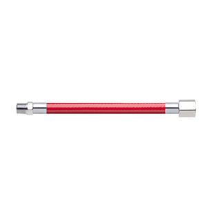 Hose Assembly; Instrument Air; Non Conductive (1/4″); Red; 1/8 NPT Male Pipe Thread; 1/8 NPT Female Pipe Thread