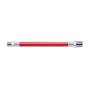 Hose Assembly; Instrument Air; Non Conductive (1/4″); Red; 1/8 NPT Male Pipe Thread; 1/4 NPT Male Pipe Thread