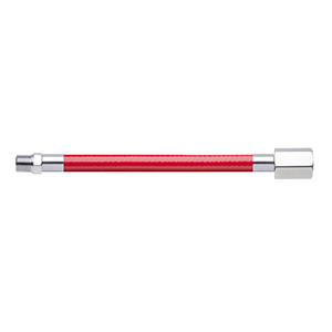 Hose Assembly; Instrument Air; Non Conductive (1/4″); Red; 1/8 NPT Male Pipe Thread; 1/4 NPT Female Pipe Thread