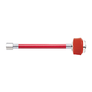 Hose Assembly; Instrument Air; Non Conductive (1/4″); Red; 1/8 NPT Female Pipe Thread; DISS Female HT Nut / Nipple