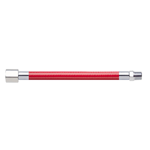 Hose Assembly; Instrument Air; Non Conductive (1/4″); Red; 1/8 NPT Female Pipe Thread; 1/8 NPT Male Pipe Thread