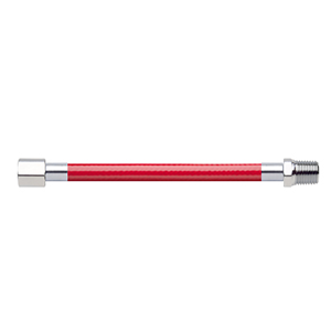 Hose Assembly; Instrument Air; Non Conductive (1/4″); Red; 1/8 NPT Female Pipe Thread; 1/4 NPT Male Pipe Thread