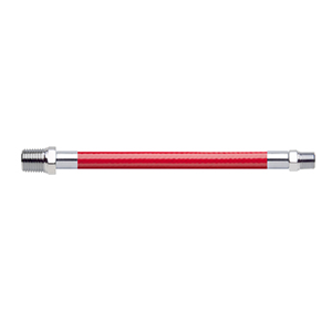 Hose Assembly; Instrument Air; Non Conductive (1/4″); Red; 1/4 NPT Male Pipe Thread; 1/8 NPT Male Pipe Thread