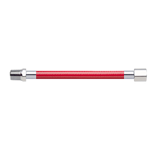 Hose Assembly; Instrument Air; Non Conductive (1/4″); Red; 1/4 NPT Male Pipe Thread; 1/8 NPT Female Pipe Thread