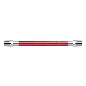 Hose Assembly; Instrument Air; Non Conductive (1/4″); Red; 1/4 NPT Male Pipe Thread; 1/4 NPT Male Pipe Thread