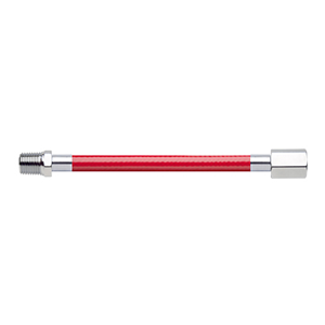 Hose Assembly; Instrument Air; Non Conductive (1/4″); Red; 1/4 NPT Male Pipe Thread; 1/4 NPT Female Pipe Thread