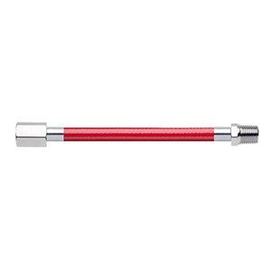 Hose Assembly; Instrument Air; Non Conductive (1/4″); Red; 1/4 NPT Female Pipe Thread; 1/4 NPT Male Pipe Thread