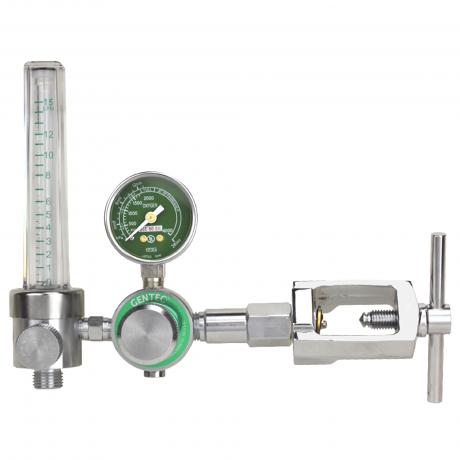 GenTech Flowmeter Regulators Piston-type Regulator with 0-15 LPM Flowmeter, CGA 540 Inlet 191M-15L